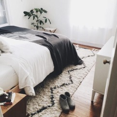 Cozy bed and rug
