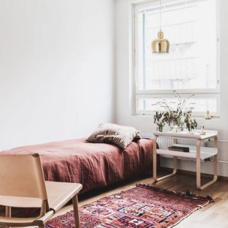 cozy single bed bedroom