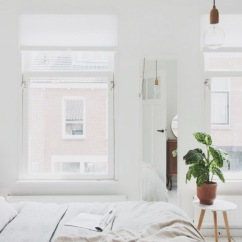 light and airy with plant accent