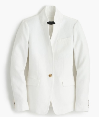 jcrew regent white blazer