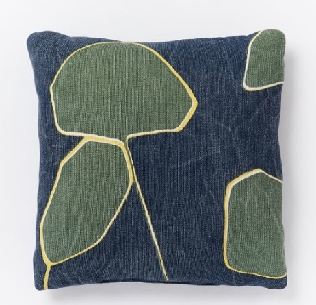 westelm leaf pillow